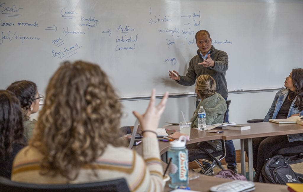 Fr. Hung Pham teaches at Regis University