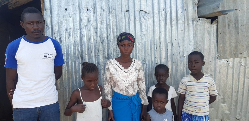 Refugee Family in Kakuma Campa