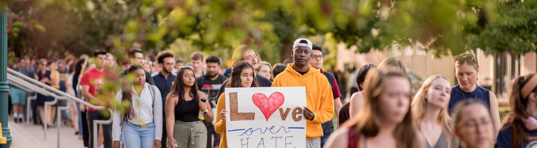 Regis U students protest