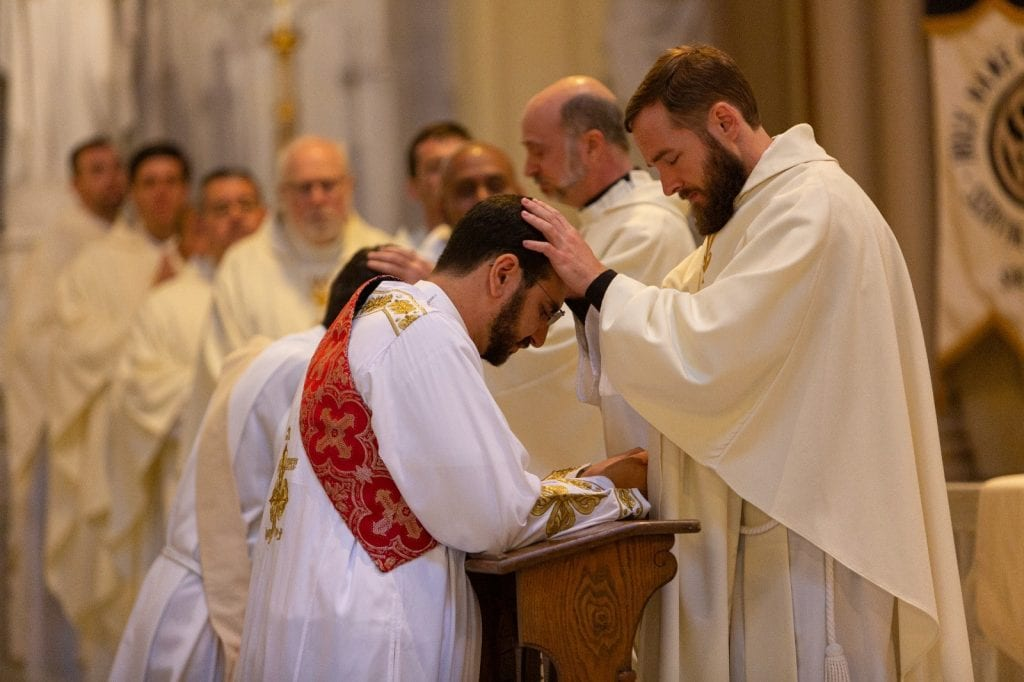 Father LaLonde at 2019 ordination Mass.